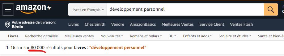 Livres de développement personnel sur Amazon